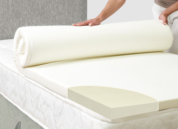KIng Size 4 inch Thick Accu-Ease 4.3 Memory Foam Mattress Topper-Made in the USA